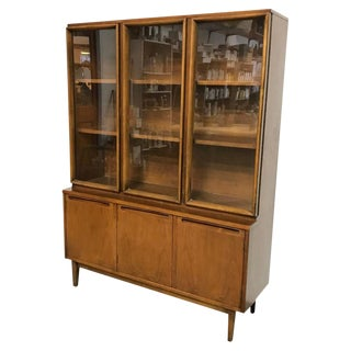Midcentury Walnut Vitrine For Sale