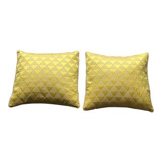 Sabina Fey Braxton Pyramid Pillows - A Pair For Sale