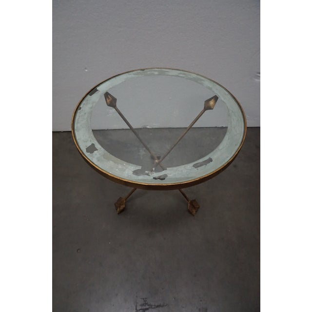 Brass Tripod Arrow Base Side Table For Sale - Image 4 of 10