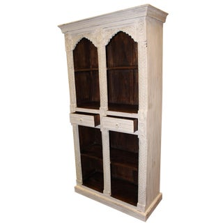 1920s Indian Style Arch Bookcase For Sale