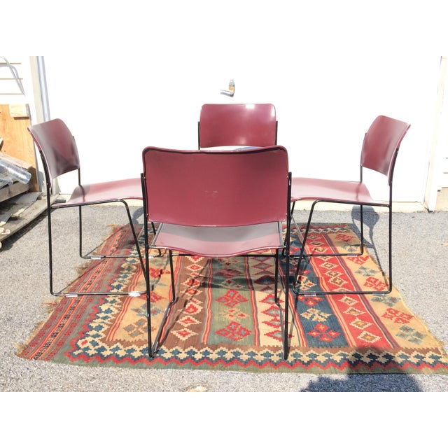 David Rowland for Rowe 40/4 Stackable Chairs- Set of 4 For Sale - Image 5 of 11