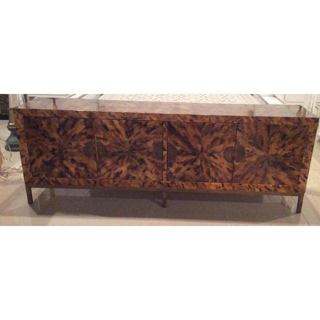 Brass Mid-Century Modern Brass Tortoise Shell Sideboard For Sale - Image 7 of 12