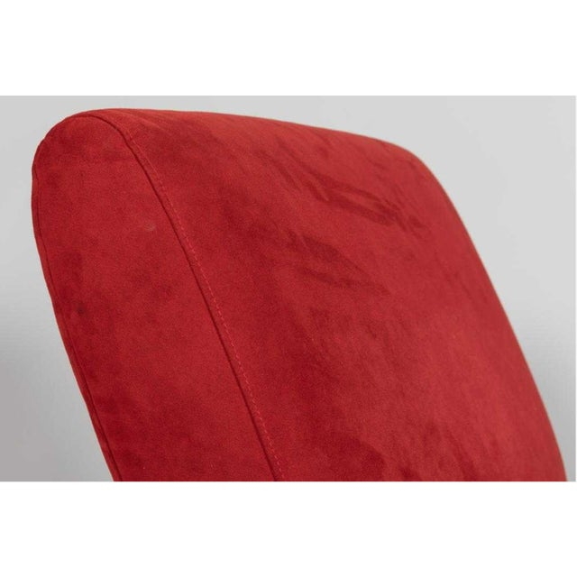 Abstract Italian Red Chaise For Sale - Image 3 of 6