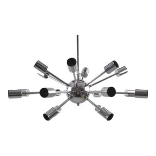 Modern Chrome Sputnik 18 Light Chandelier