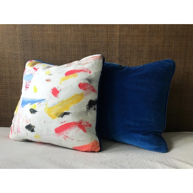 Contemporary Pierre Frey Arty Pillows - a Pair For Sale - Image 3 of 6