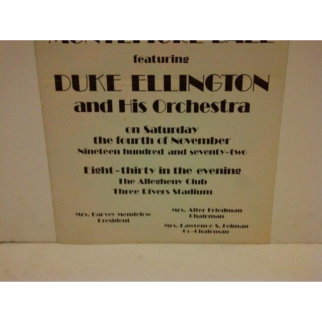 Vintage 1972 Duke Ellington Concert Poster For Sale - Image 5 of 7