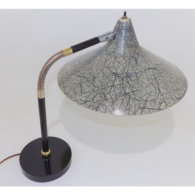 Gerald Thurston Flying Saucer Tanker Desk Lamp For Sale - Image 11 of 11