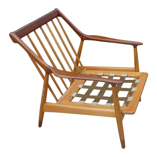 1950's Vintage Jason Ringsted Danish Modern Rosewood & Teak Armchair For Sale