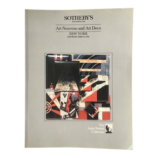 "1988 Sotheby's ""Andy Warhol Collection Art Nouveau & Art Deco Volume I"" Auction Catalog For Sale"