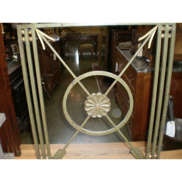 Art Deco French Art Deco Neoclassical Style Wrought Iron Fireplace Screen With Arrows, Circa. 1930 For Sale - Image 3 of 9