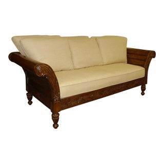 Tommy Bahama Plantation Style Sofa / Daybed With Reversible Cushions For Sale