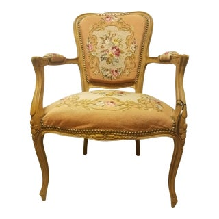 19th Century French Needle Point Arm Chair