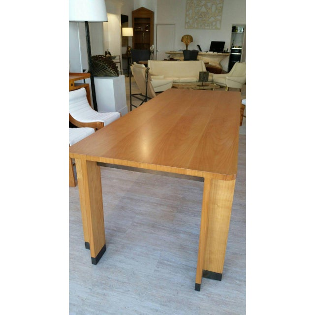 Jacques Quinet Jacques Quinet Cherrywood Dining Table For Sale - Image 4 of 6