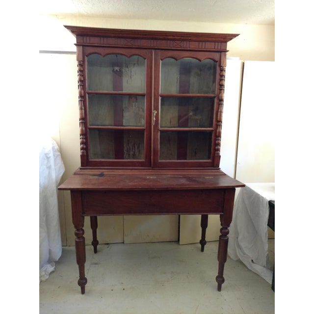 1930's Tropical Plantation Harvest Table Rosewood & Ebony Cabinet For Sale - Image 13 of 13