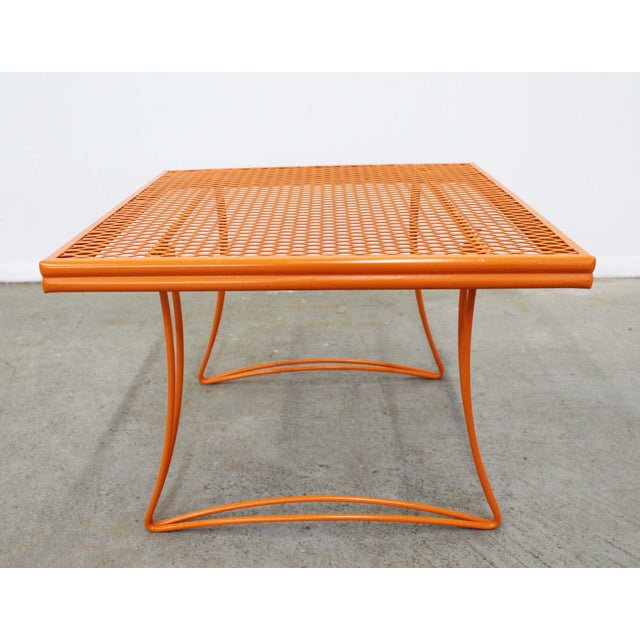 What a find. Offered is a mid-century outdoor/patio square end table (model 1521) made by Homecrest Bottemiller, circa...
