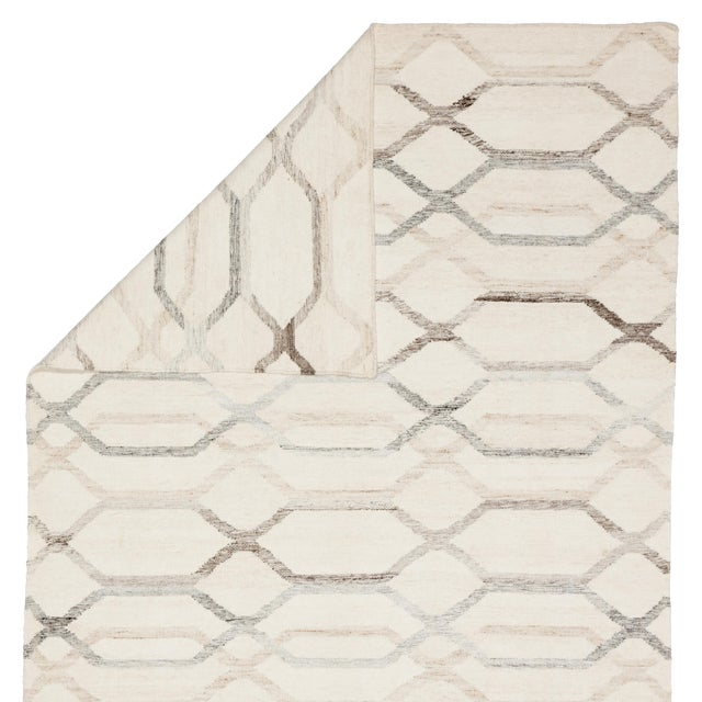 Jaipur Living Laveer Handmade Trellis Ivory & Light Gray Area Rug - 5'x8' For Sale - Image 4 of 6