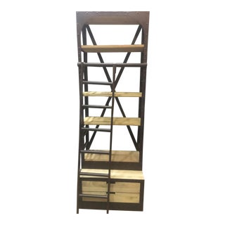 Velocity Pine Wood Bookshelves W/ Decorative Ladder