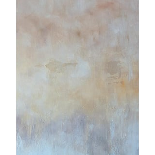 Neutral Abstract Original Giclee Art Print on Canvas For Sale