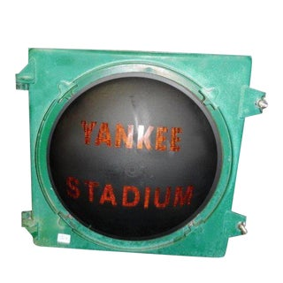 1920s Americana Yankee's Stadium Street Light For Sale