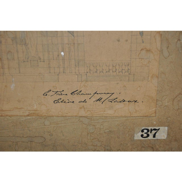 18th/19th Century Master Architectural Drawings For Sale In San Francisco - Image 6 of 11