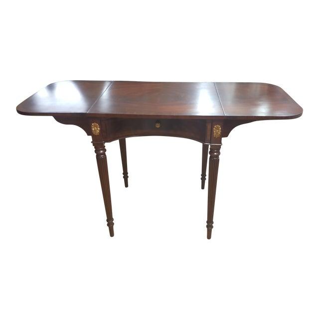 Maitland Smith Mahogany Pembroke Table For Sale