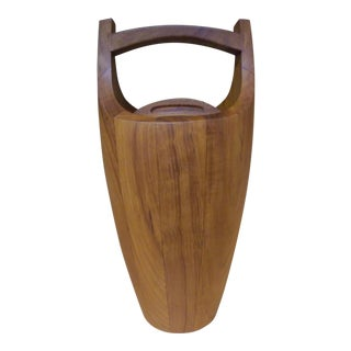 Jens Quistgaard for Dansk Mid-Century Staved Teak Ice Bucket