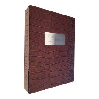 Ralph Lauren Limited Edition Embossed Alligator Covered Book For Sale