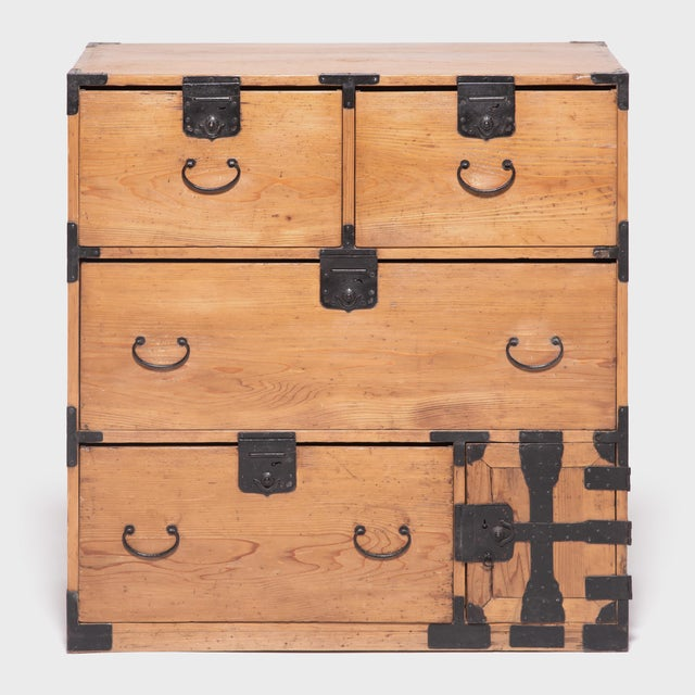 Early 20th Century Japanese Iron Bound Tansu For Sale - Image 11 of 11