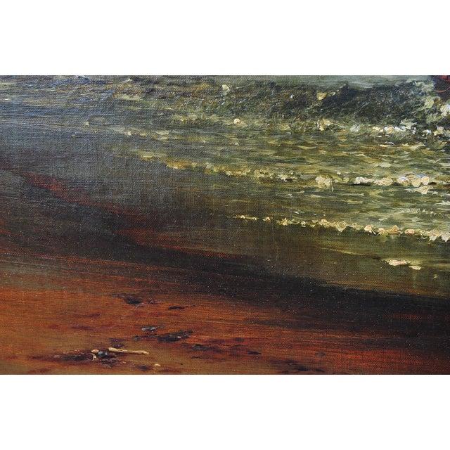 """Harry J. Sunter 1880 """"Fishermen Offshore"""" Painting - Image 6 of 9"""