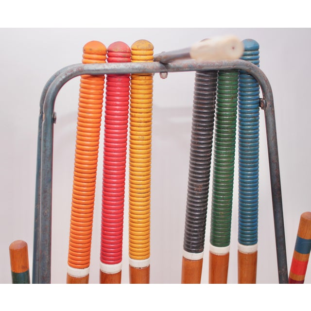 Mid-Century Modern Mid Century South Bend Croquet Set For Sale - Image 3 of 12
