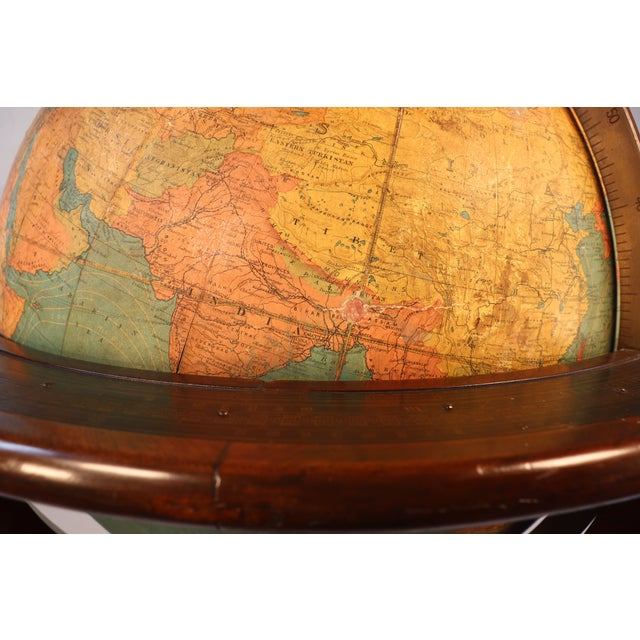 Metal Early 1900's Williams-Pridham Index Globe For Sale - Image 7 of 12