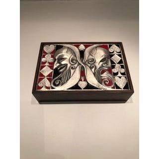 Ottaviani Mid-Century Modernist Italian Sterling Silver and Enamel Box Preview