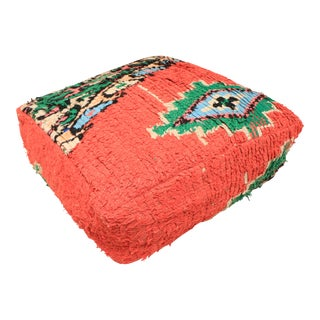 Moroccan Red Unstuffed Pouf Cover For Sale