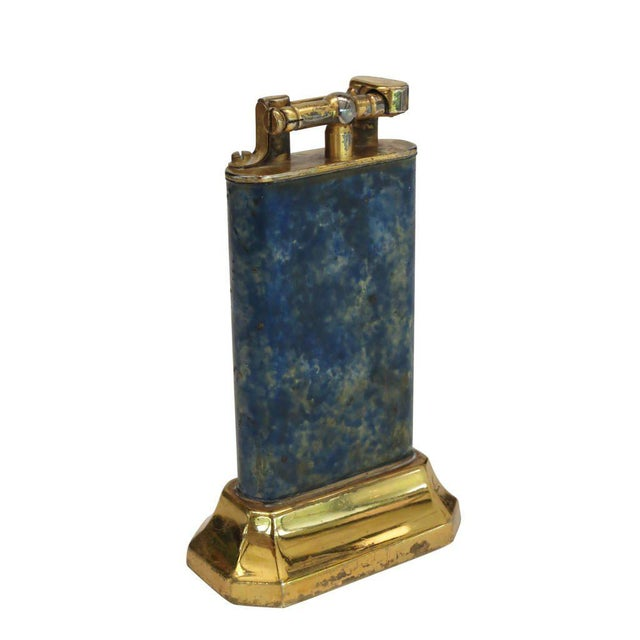Aged Lift Arm Table Lighter by Dunhill - Image 3 of 9