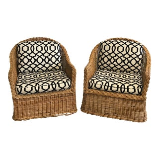 Vintage Rattan Chairs - a Pair