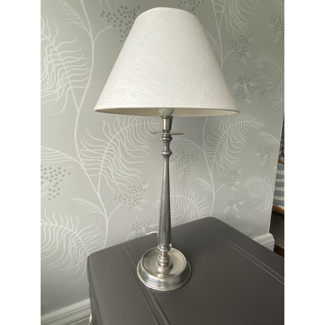 Antique Silver Milano Lamp For Sale - Image 10 of 10