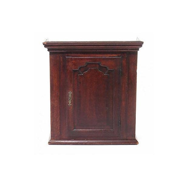 18th Century Georgian English Wall Cabinet - Image 2 of 2