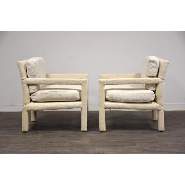 Mid-Century Modern Milo Baughman for Thayer Coggin Parsons Chairs- a Pair For Sale - Image 3 of 10