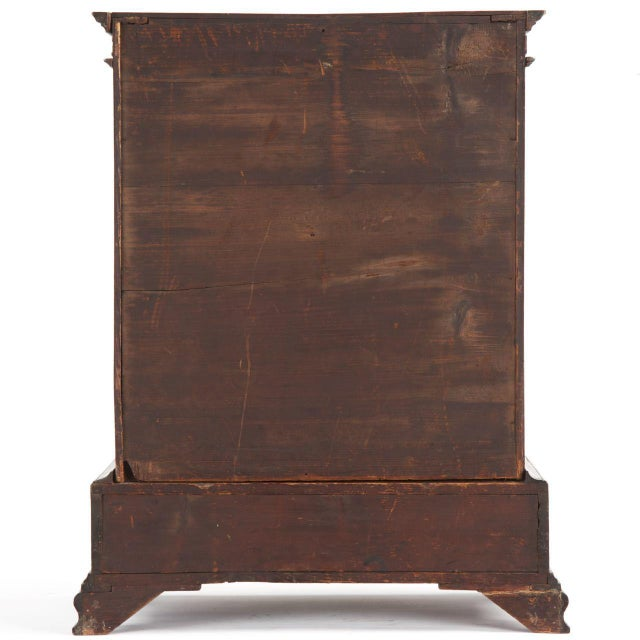 1770 Antique Miniature English Chippendale Mahogany Spice Cabinet For Sale  - Image 4 of 11 - 1770 Antique Miniature English Chippendale Mahogany Spice Cabinet