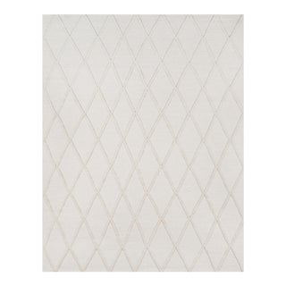 Erin Gates by Momeni Langdon Spring Beige Hand Woven Wool Area Rug - 7′6″ × 9′6″ For Sale