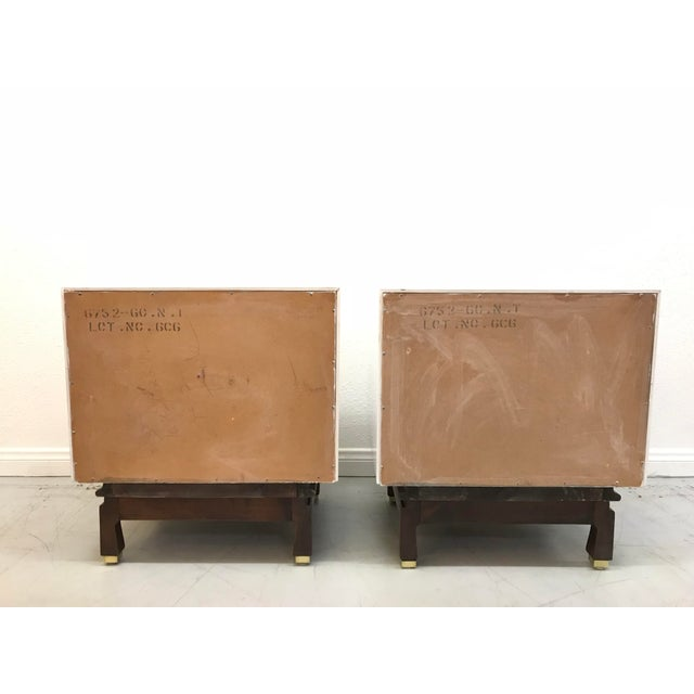 Mid-Century Modern American of Martinsville White Laquered Nightstands - A Pair For Sale - Image 3 of 10