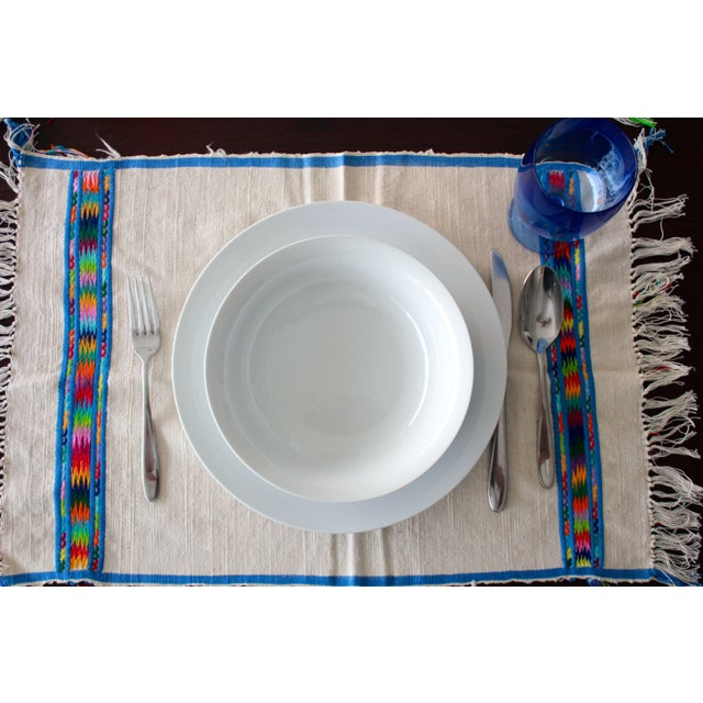 Hand Embroidered Multicolor Placemats - Set of 6 - Image 6 of 7