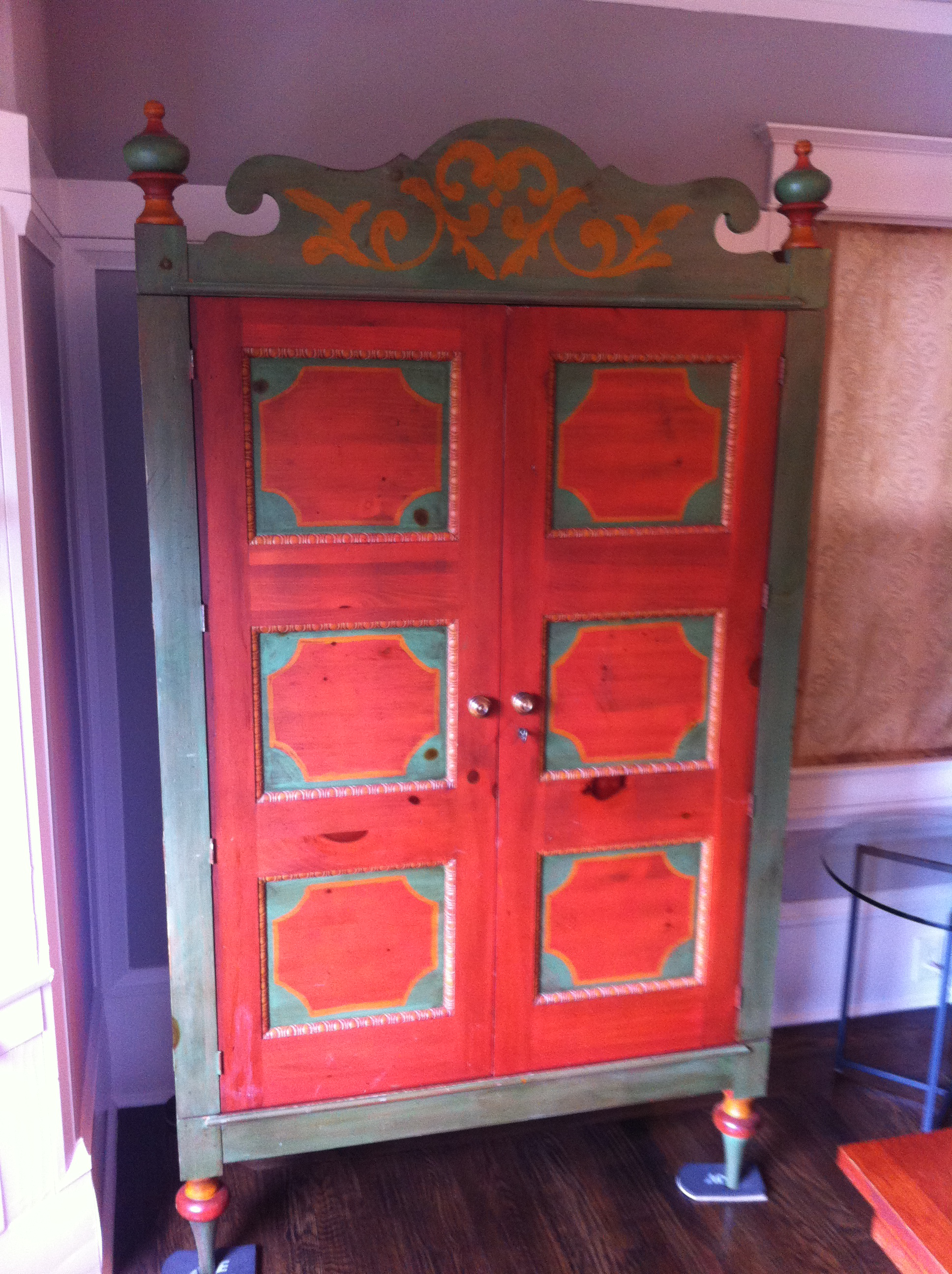 Romweber Painted Knotty Pine Armoire   Image 4 Of 5