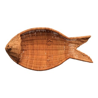 Primitive Woven Fish Basket For Sale