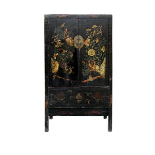 19th Century Chinoiserie-Style Black Elm Cabinet Preview