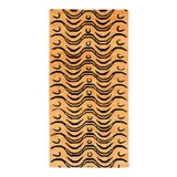 Image of Black and Tan Wool Tibetan Tiger Area Rug For Sale