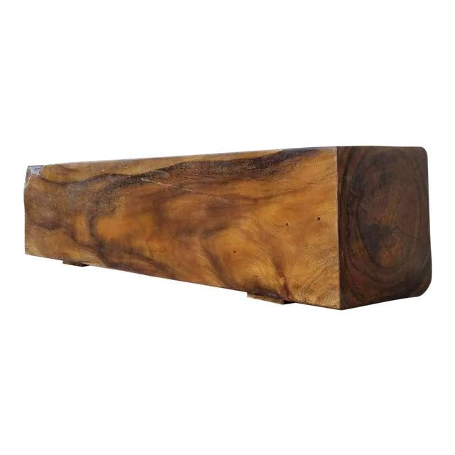 Vintage Solid Rosewood Bench For Sale