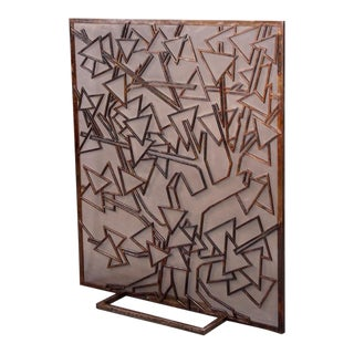 French Wrought Iron Fire Screen For Sale