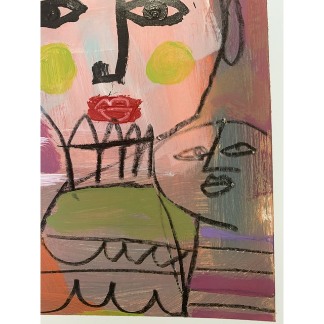 Original Abstract Contemporary Face Painting For Sale In Dallas - Image 6 of 9