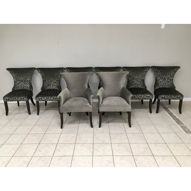 """Wood Bernhardt """"Jet Set"""" Dining Table & 8 Chairs For Sale - Image 7 of 13"""